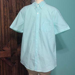 american eagle button shirt size m